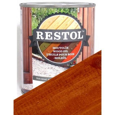 Huile de protection bois Restol Brun Rouge