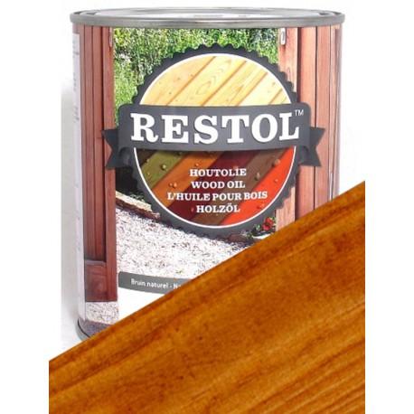 Huile protection bois Restol Brun clair