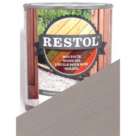 Huile de protection du bois Restol Gris clair