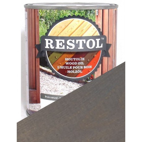 Huile de protection bois Restol Gris