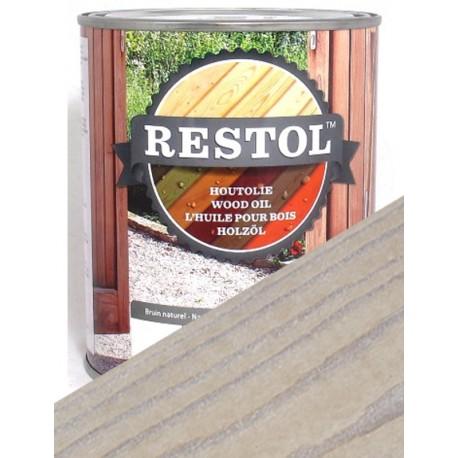 Huile de protection bois Restol blanc cérusé