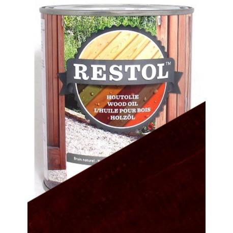 Huile de protection bois Restol Chêne foncé