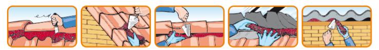 Application du Flexim sur différents éléments de toiture